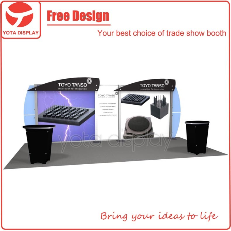 Yota offer toyotanso, 3x6 modular exhibition system booth design service