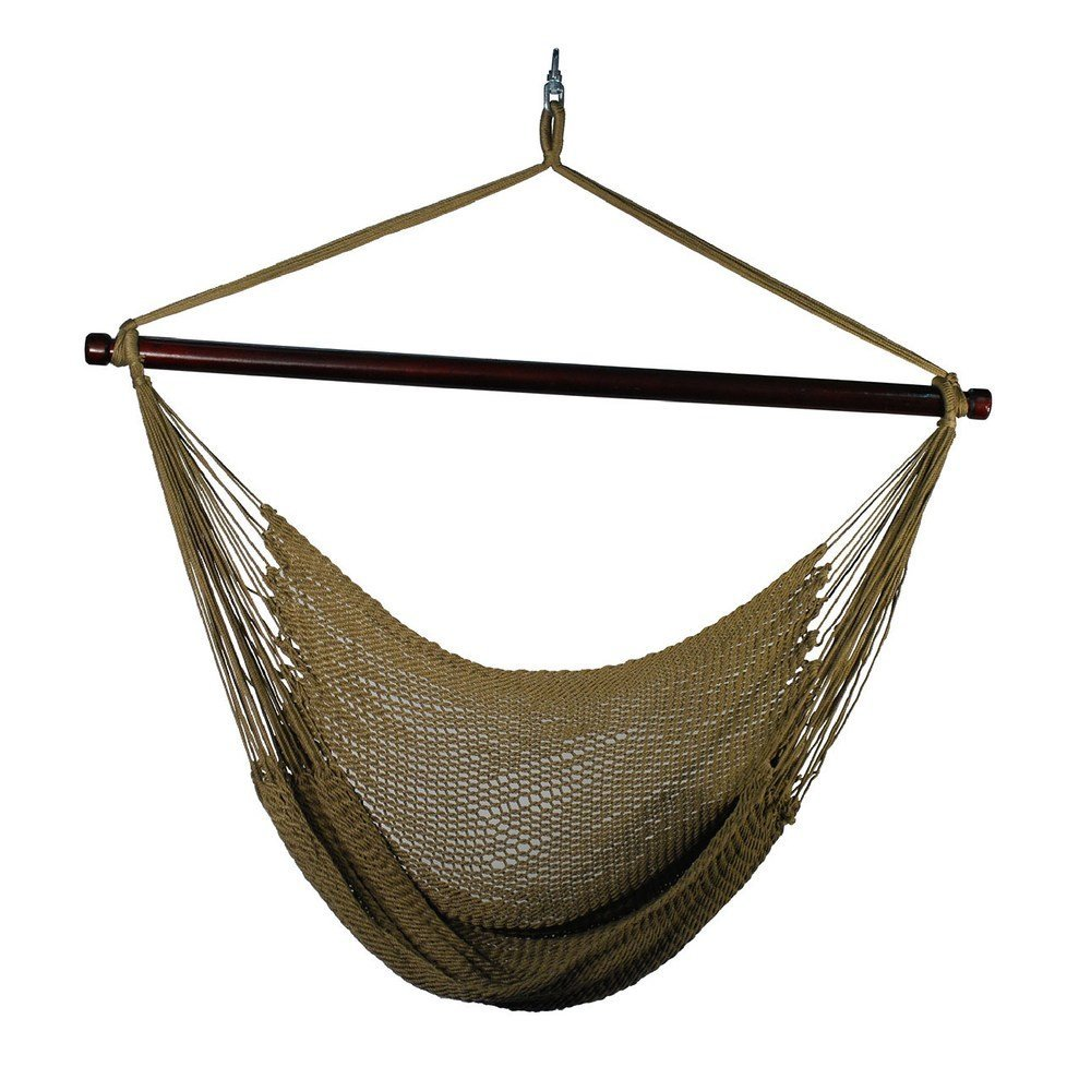 Outdoor Woven Caribbean Polyester Rope Hanging Hammock Swing Chair
