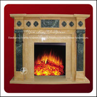 Beautiful Carved Modern Wall Mounted Fireplace
