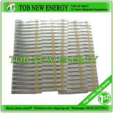 Aluminum tab and nickel tab for lithium battery cathode and anode current collector materials