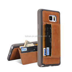 Wallet Cell Phone Case For Note5, Stand Leather cover For Note5