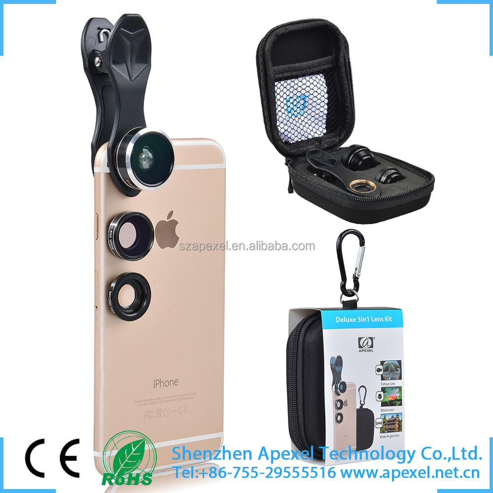 america hottest gadgets for iphone ipad samsung universal 3 in1 camera attachment lens for cell phone