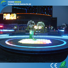 2015 interactive dance floor waterproof portable led dance floor