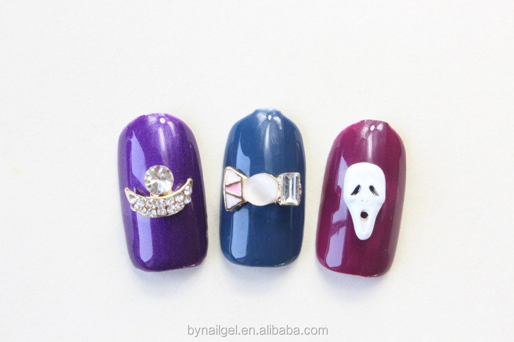 Hot selling bow skull butterfly lip nail art nail jewelry nail design 2015