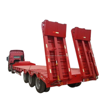 4 axle 100 ton low loader truck trailer for sale
