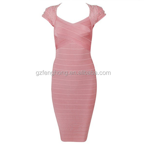 Cheap bandage dress high fashion celebrity new evening dress online shopping