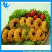 Breaded squid rings with nice quality