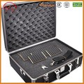 2017 latest fashion top design travel cases tool case with eva Aluminum tool case