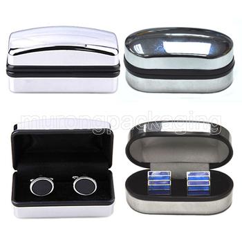 Mirrored Cufflink Storage Box Silver Plating Cufflink Boxes