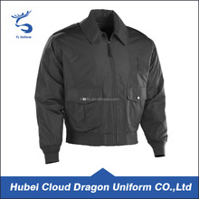 Spring black waterproof warm police winter jackets for men