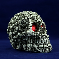 Human medical models with LED eyes G027 for sale halloween foam skulls