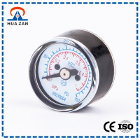 30mm 1MPa Dual Scale bourdon tube pressure gauge for sale