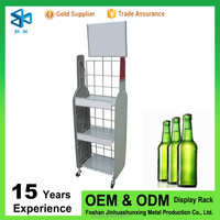 Metal liquor bottle display shelf/beer bottle rack/wine display stand