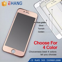 New products 2016 3D electroplate mirror color tempered glass screen protector