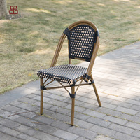 (SP-OC429) Cheap french style aluminium rattan bistro chair