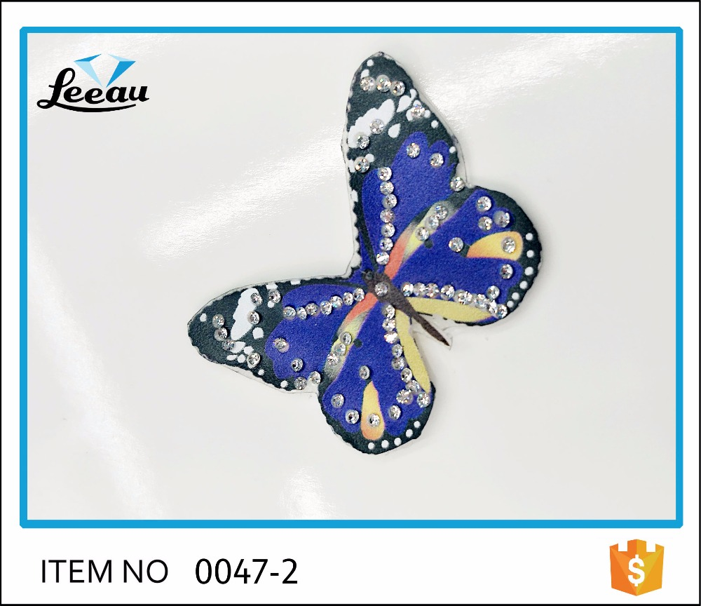 Hot fix beaded crystal butterfly <strong>iron</strong> on patches diamond motif rhinestone butterfly applique <strong>iron</strong> on rhinestone butterfly