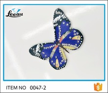Hot fix beaded crystal butterfly iron on patches diamond motif rhinestone butterfly applique iron on rhinestone butterfly