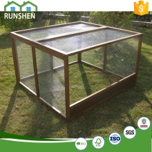 XL Run Cage For Chicken Or Duck Fir Wood + Stainless Steel Mesh