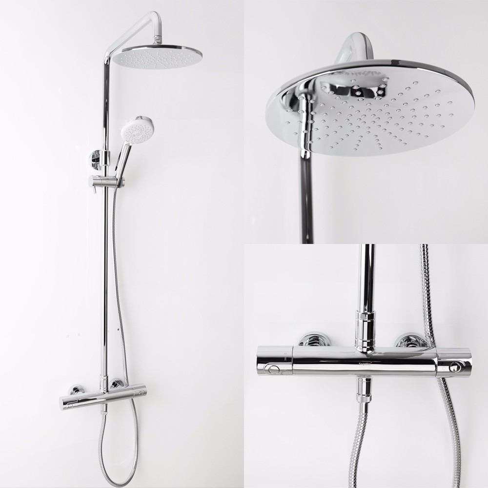 Rain Shower Head Wall Mounted Faucet Set