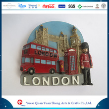 Pvc Polyresin New Design European Souvenir Customized Resin London City Fridge Magnet