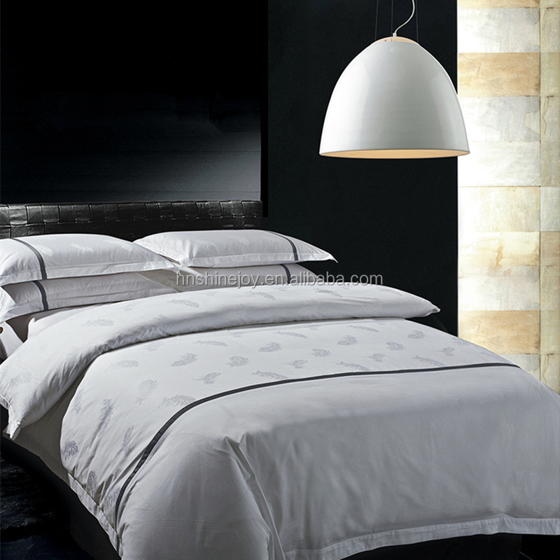 Super percale 100% egyptian cotton Queen embroidered plain white sateen quilt cover