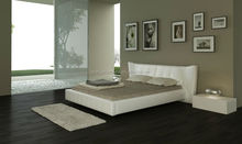 leisure bonded leather bed, king size bed