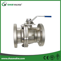 Stainless steel split body floating ball valve with NPT ends from China