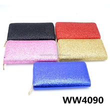 OEM Shinning Glitter Design Seaside Travel Wallet With Customer Logo