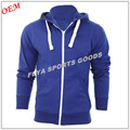 2017 Wholesale China Manufacture Customized Tall Blank Plain Men's Zip Up Hoodies
