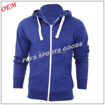 2018 Wholesale China Manufacture Customized Tall Blank Plain Men's Zip Up Hoodies