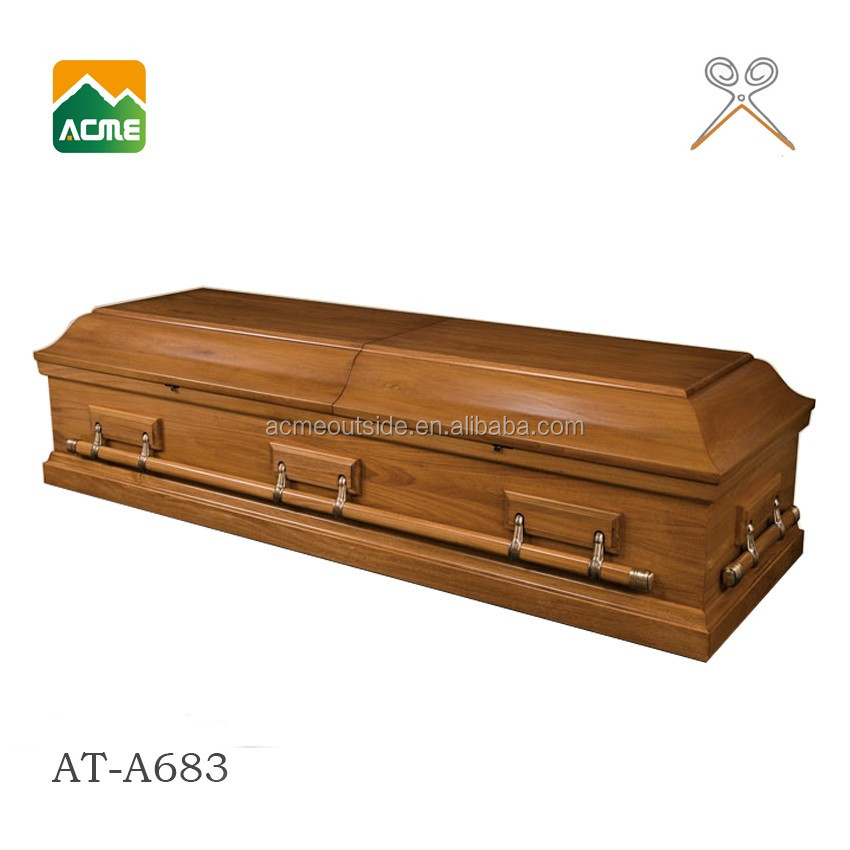 AT-A683 funeral MDF cheap wooden casket