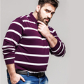 plus size custom oversize men's polo shirt wholesale stripe t shirt for fatty