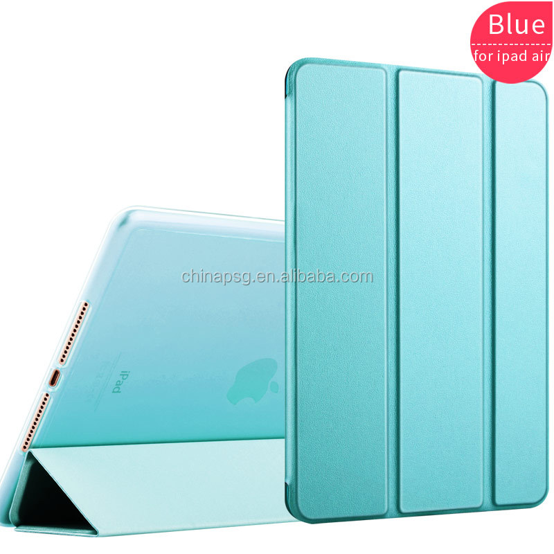 2017 factory prices Folding stand Smart Cover Leather soft edges tablet pc case for Ipad air2/Ipad 6 for Apple iPad 5 9.7