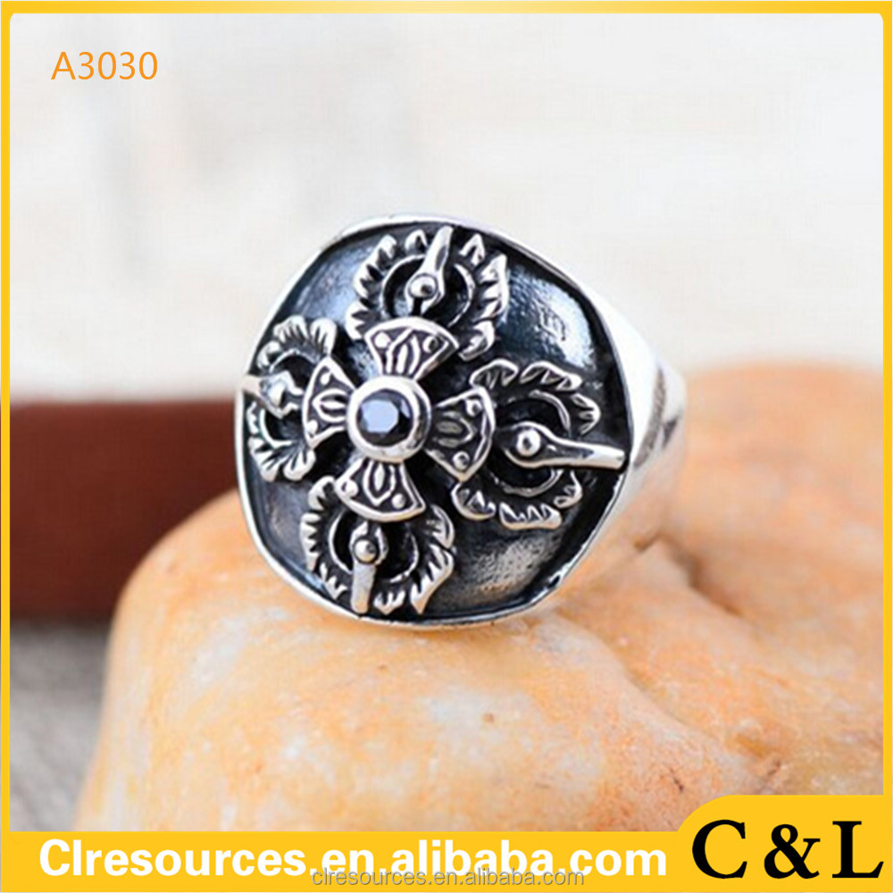 cross Knights Templars ring men stainless steel unique jewelry exquisite men's ring