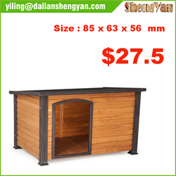 Wooden Dog House with Slanted Roof/Wooden Dog Kennel /Cedar Pet House