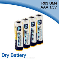 Zinc carbon cell 1.5V r03 aaa size battery