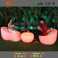 outdoor furniture led modern hard plastic inflatable round sofa chair