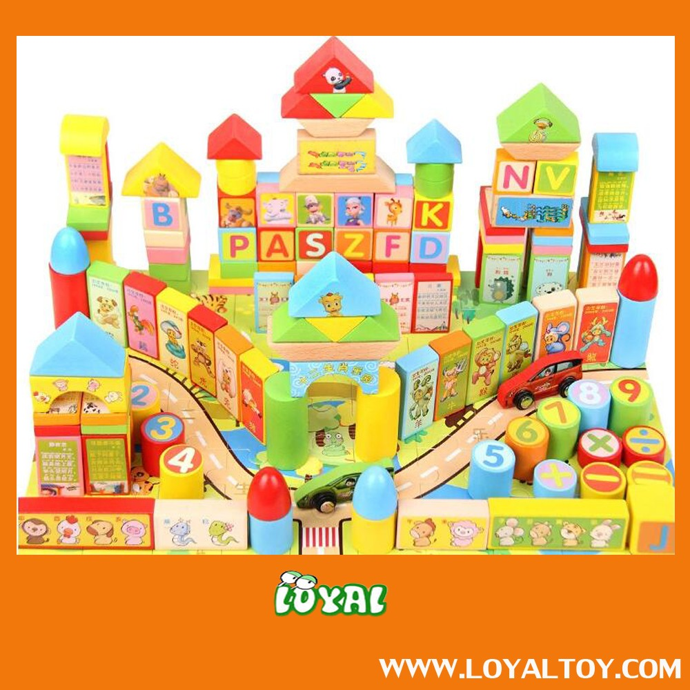 2016 NEW STYLE WOODEN BLOCKS,BUILDING BLOCKS,TOY BRICK with good quality low cost