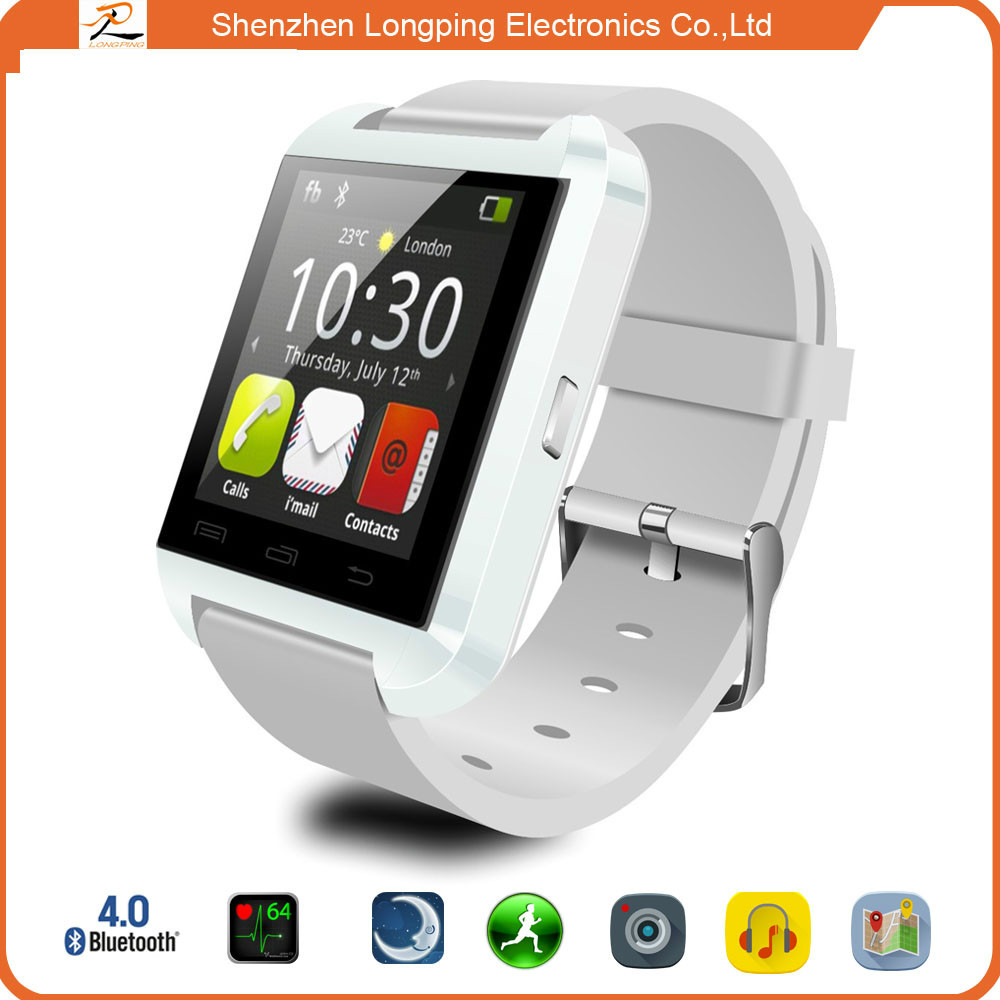 2015 shenzhen lowest price answer bluetooth smart watch u8 mobile phone for android