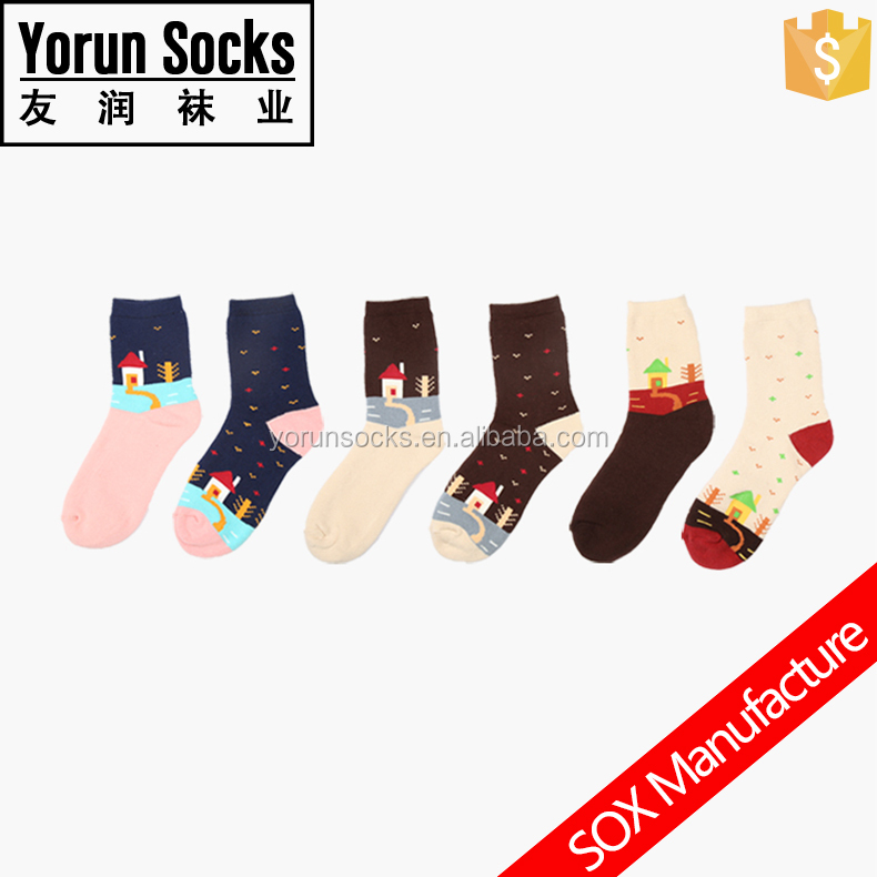 Customized soft terry thick cartoon socks for girls wholesale socks in hot sale