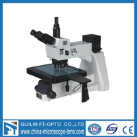 FD12405 big stage upright trinocular metallurgical microscope