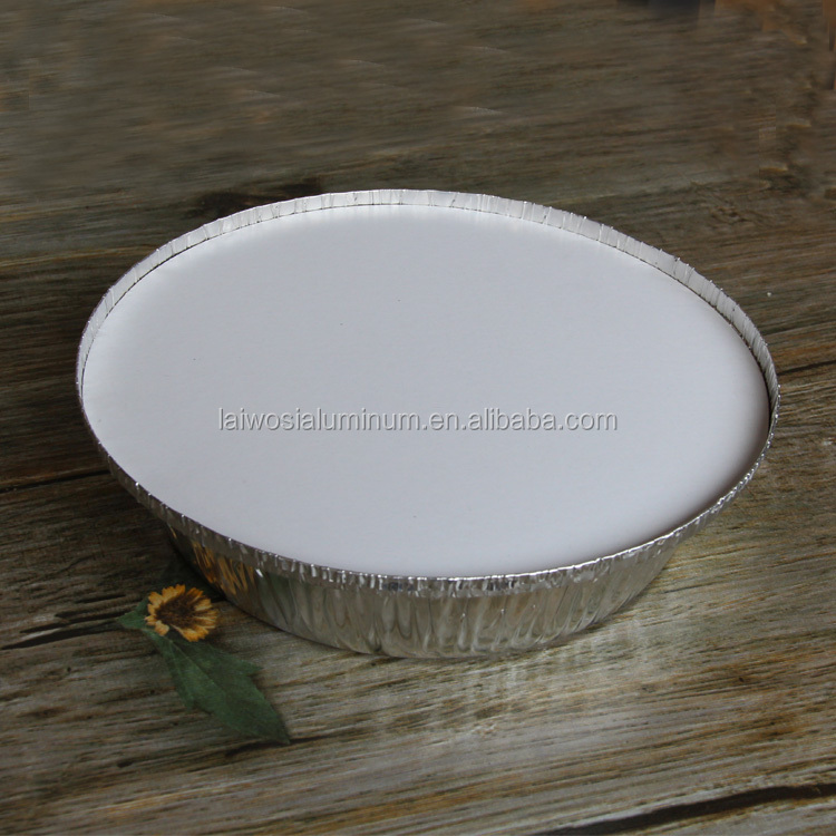 "7"" and 9"" aluminum foil round containers with lids"
