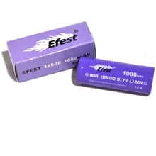 EFEST 18500 1000mAh V1 (Flat Top) | 3.7v IMR Lithium Ion Battery