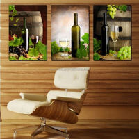 2015 New3 Piece Free Shipping Hot Sell Modern Wall Wine Art Family paintings Home Decorative Art Picture Paint on Canvas Prints