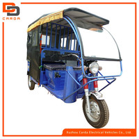 fiber glass front windshield tourist electric tricycle with waterproof curtain/new tuk tuk e-rickshaw for passenger