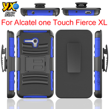Hot Sell 3 in 1 Siper Combo case with Belt Clip Holster, Rugged Hybrid Hard Duty Case, For Alcatel one touch fierce 2 XL 5054