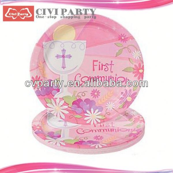 EUROPE market standard Birthday Party Paper Plates decorative elements fancy paper dish