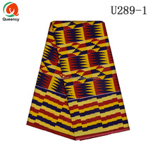 U289 Queency African Good Quality Ankara Super Wax Soso Fabric Ghana Kente Cloth On Sale