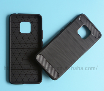 Wire drawing Shockproof Soft carbon fiber TPU protective case cover for Huawei Mate 20 Pro