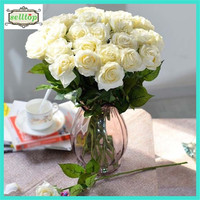 43cm silk real touch artificial roses wedding flower
